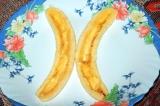 Шаг 4. Сделать углубление посередине банана.