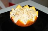 Готовое блюдо: мороженое в апельсине