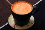 Готовое блюдо: морковный фреш с грейпфрутом