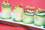 Готовое блюдо: овощные роллы