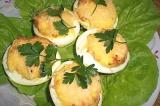 Готовое блюдо: фаршированные яйца в аэрогриле