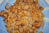 Готовое блюдо: гренки с чесноком