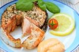 Готовое блюдо: красная рыба в аэрогриле