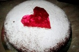 Готовое блюдо: пирог ко Дню влюбленных