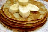 Готовое блюдо: блинчики банановые