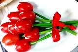 Готовое блюдо: тюльпаны на 8 марта