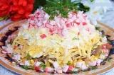 Готовое блюдо: салат крабовый с грибами