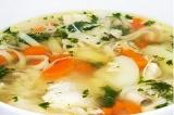 Готовое блюдо: куриный суп-лапша