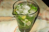 Готовое блюдо: лимонад с мятой