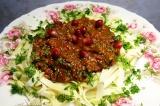 Томатный соус с мясным фаршем