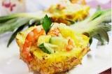 Готовое блюдо: ананасовый салат с креветками