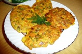 Готовое блюдо: оладьи из горбуши