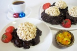 Готовое блюдо: шоколадные гнезда