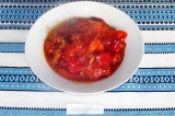 Готовое блюдо: перец тушеный с томатами