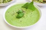 Готовое блюдо: суп-пюре грибной со шпинатом
