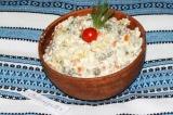 Салат Оливье вегетарианский