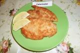 Готовое блюдо: куриный шницель с лимоном