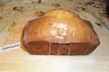 Шаг 10. Остывший кекс полить лимонной глазурью.