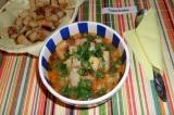 Готовое блюдо: итальянский овощной суп