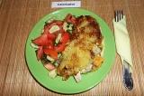 Готовое блюдо: картофельный блин с начинкой