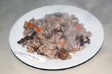 Готовое блюдо: каша из четырех круп с грибами