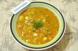 Готовое блюдо: ароматный суп-харчо
