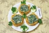 Готовое блюдо: тальятелле со шпинатом и сливочным сыром