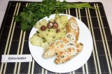 Готовое блюдо: люля кебаб из куриного филе