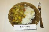 Готовое блюдо: чечевица с овощами