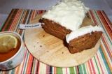 Готовое блюдо: морковный пирог в сливочной глазури
