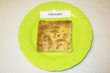 Готовое блюдо: пирог с персиками