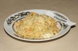 Готовое блюдо: ризотто с креветками