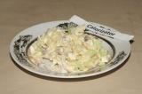 Готовое блюдо: салат деревенский с картофелем и яйцами