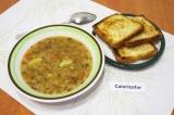 Готовое блюдо: суп из чечевицы и риса