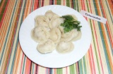 Готовое блюдо: пельмени из индейки