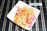 Готовое блюдо: витаминный салат из свежих овощей