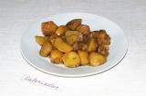 Готовое блюдо: тушеный картофель с ассорти из грибов