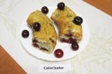 Готовое блюдо: вишневый кекс с ореховой карамелью