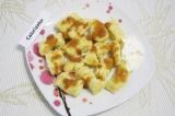 Готовое блюдо: ленивые вареники с панировкой