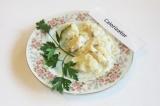 Готовое блюдо: рыбное филе под белым соусом