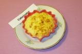 Готовое блюдо: рисовая запеканка с творогом и курагой
