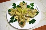 Готовое блюдо: тунец, запеченный в сливках