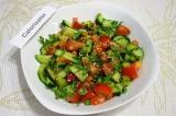 Готовое блюдо: салат Огурцы с помидорами