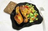 Готовое блюдо: куриные ножки в горчично-медовом маринаде