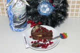 Готовое блюдо: новогодний шоколадный торт Веган