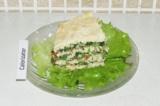 Готовое блюдо: куриный торт с овощным кремом