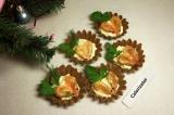 Готовое блюдо: тарталетки с креветками