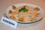 Готовое блюдо: сладкий рис с айвой