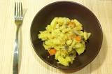 Готовое блюдо: картофель с грибами в рукаве