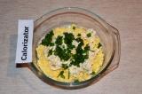 Шаг 5. К ингредиентам добавить порезанный зеленый лук.